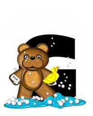 Alphabet Teddy Bath Time G