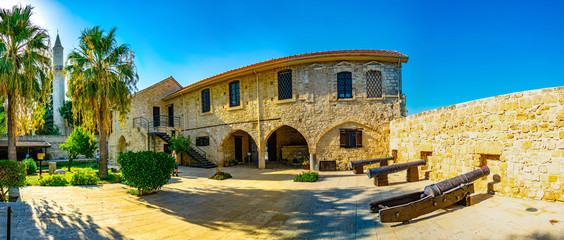 Keuken foto achterwand Cyprus Courtyard of the Larnaca castle on cyprus