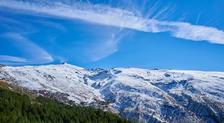 Sierra Nevada village ski resort Granada