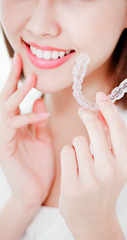 woman with teeth invisible brace