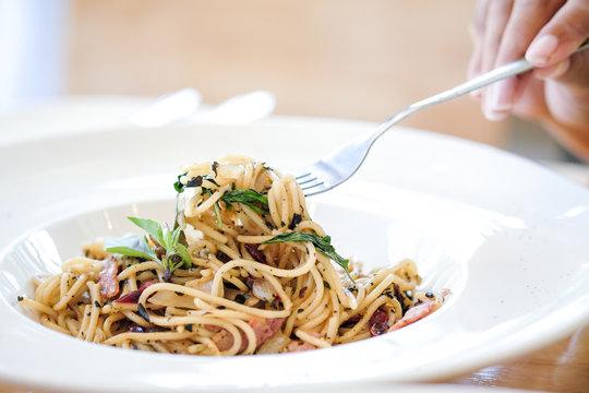 food Delicious spaghetti