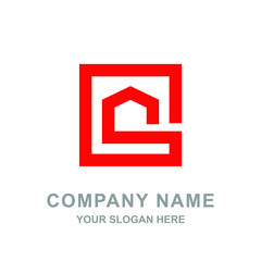 Red House Real Estate Building Architecture Logo Vector