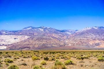 The colorful and steep Panamint mountain range, Mojave Desert, California