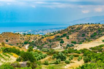 Hilly countryside of Cyprus near Akamas peninsula