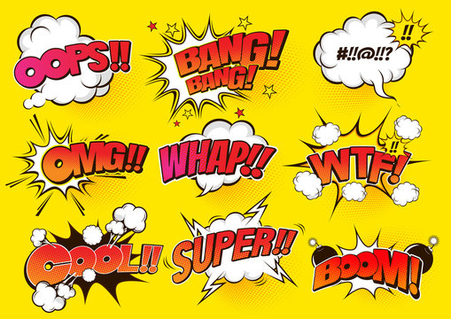 comic speech bubbles , doodle art, Vector illustration, you can place relevant content on the area.