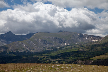 Cumulus Clouds over the Rocky Mountains
