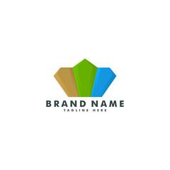 Diamond logo. jewelry icon vector