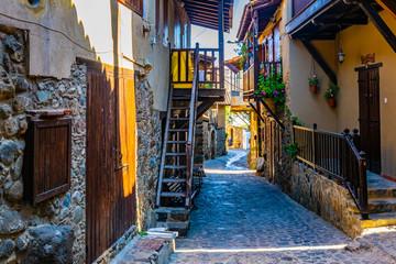 Narrow streets of old Kakopetria on Cyprus