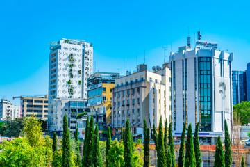 Tower 25 skyscraper in the center of Nicosia, Cyprus