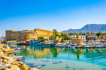 Deurstickers Cyprus Kyrenia Castle situated in the Northern Cyprus