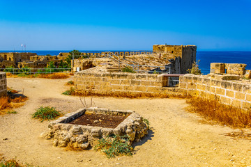 Rampart of the Kyrenia Castle situated in the Northern Cyprus