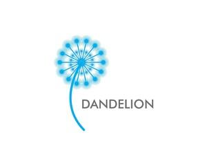 Dandelion flower logo