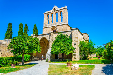 Deurstickers Cyprus Bellapais abbey at Beylerbeyi village in Northern Cyprus