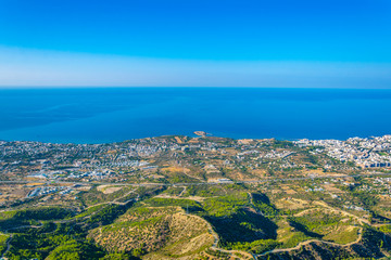 Kyrenia/Girne viewed from St. Hilarion castle in Cyprus