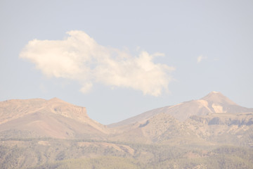 Volcan Basaltic Mountain Teide in Tenerife Canary Islands Spain