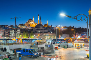 Wall Mural - Istanbul city landmark near Galata Bridge in Istanbul, Turkey