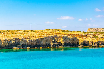 Sea caves at cape greco in the south-eastern cyprus