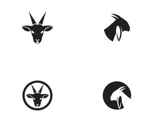 Goat head Logo Template vector