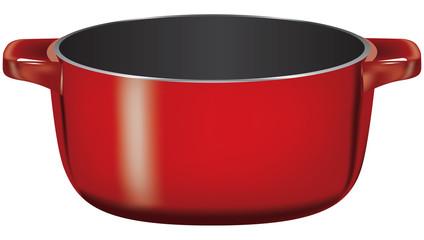 Cast iron deep pan