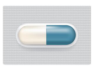 Capsule medicine in blister pack