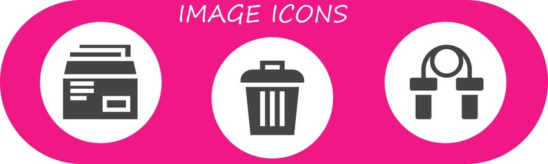 Vector icons pack of 3 filled image icons