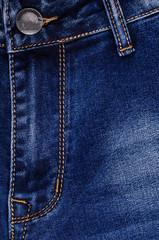 Denim. Blue jeans.