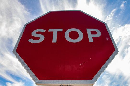 panneaux stop, stop signs