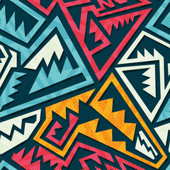Colored tribal pattern