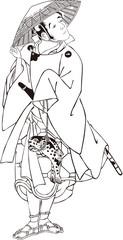 浮世絵 歌舞伎役者 その2 白黒