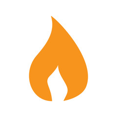 Flame orange icon on white background for graphic and web design, Modern simple vector sign. Internet concept. Trendy symbol for website design web button or mobile app