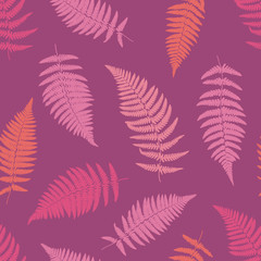 Fern tropical seamless pattern. Vector illustration