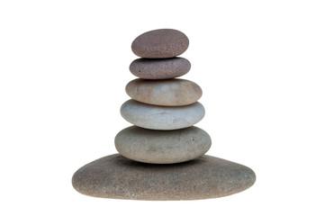 Single stone pebble isolated
