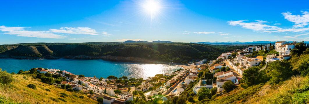 Panorama depuis Montgo à L'Escala en Catalogne, Espagne