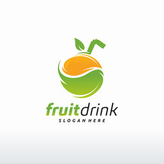 Fruit Drink logo designs concept vector, Juice logo template