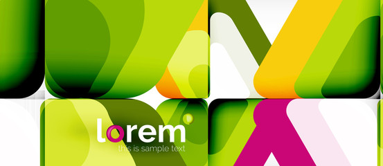 Abstract background multicolored geometric shapes modern design