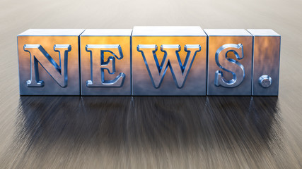 letterpress type word news