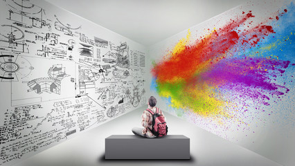 Divided room Wall mural