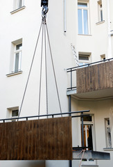 Constructing a new balkony on a house