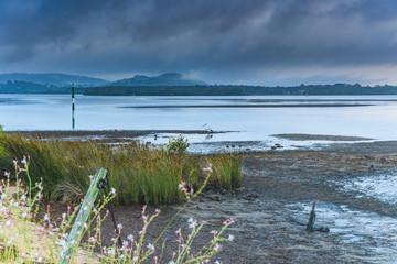 Misty Blue Sunrise Waterscape