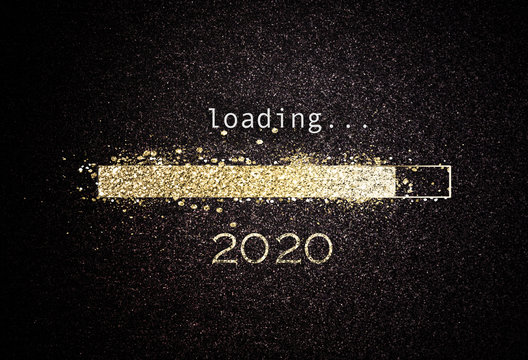 2020 New year background with loading bar