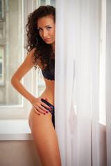 woman in sensual lingerie