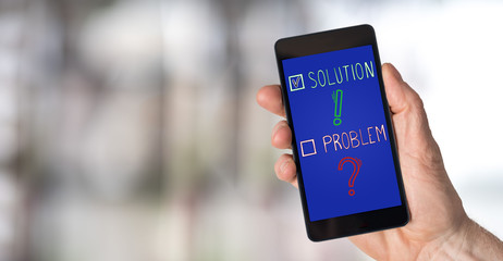 Solution concept on a smartphone