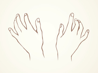 Hand massage. Vector drawing