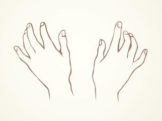 Hand massage. Vector drawing