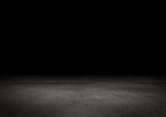 Dunkler Boden Hintergrund Leer Stein Beton bei Nacht Fotomurales