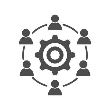 Development interacting communication meeting icon