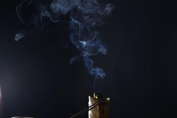 Obłok dymu - malowanie dymem