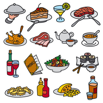 food and meal icons