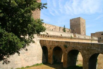 Swabian Castle or Castello Svevo, (Norman-Hohenstaufen Castle), Bari, Apulia, Italy