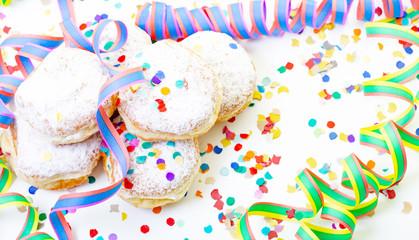 carnival Karneval Krapfen Donuts Pancake Confetti Party